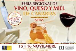Valsequillo acoge la V Feria Regional del Vino, Queso y Miel de Canarias