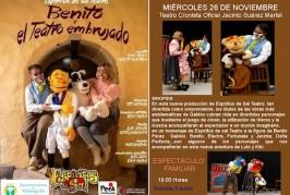 """La obra infantil """"Benito y el teatro embrujado"""" llega a Valsequillo"""