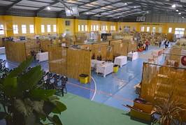 Todo preparado en Valsequillo para la V Feria Regional de Vino, Queso y Miel de Canarias