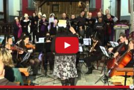 Concierto de Navidad de coro y orquesta de la escuela municipal