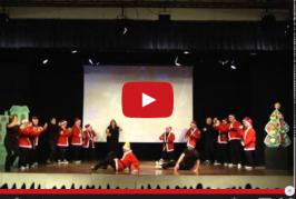 Muestra de danza de la escuela municipal Espíritu de la Navidad.