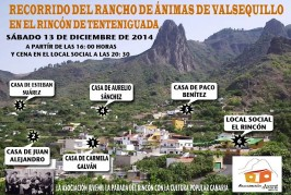 FOTONOTICIA: Recorrido del Rancho de Ánimas por el Rincón de Tenteniguada el sábado 13 de diciembre
