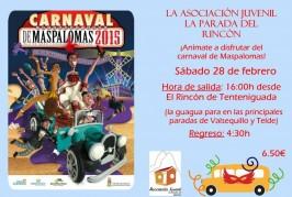 La Asociación La Parada del Rincón organiza una salida para disfrutar del Carnaval de Maspalomas el sábado 28 de febrero