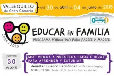 El programa formativo para padres «Educar en familia» abre su inscripción