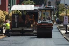 Repavimentación de calles en Valsequillo.