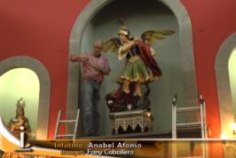 Retirada las figuras de Luján Pérez para una exposición del Cabildo de Gran Canaria.