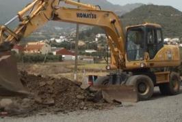 Repavimentación en el barrio de La Palma.