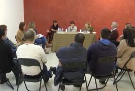 Reunión de los artesanos de Valsequillo con la consejera del Cabildo, Minerva Alonso.