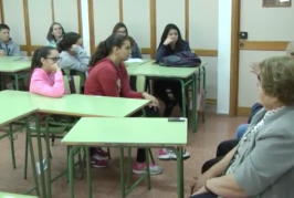 Proyecto Historia Viva de los mayores con los alumnos del IES Valsequillo.