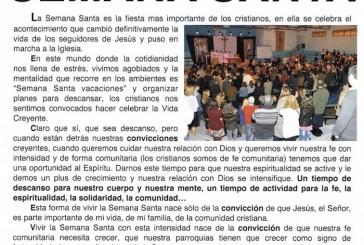 Consulte el Programa de Actos Religiosos de Semana Santa en Valsequillo de G.C.