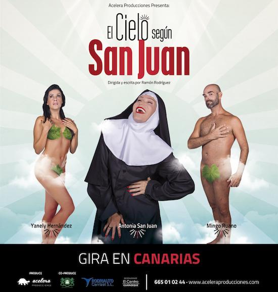 El público vuelve a agotar las entradas del teatro Juan Ramón Jiménez para la función de 'El cielo según San Juan'