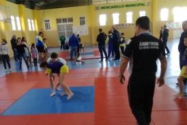 90 niños participaron en el XI Encuentro Insular de Lucha Canaria en Valsequillo