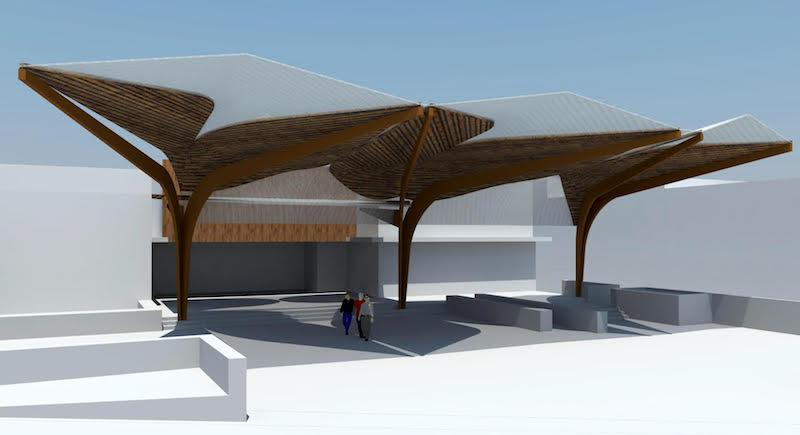 proyecto cubrición plaza tifariti 4w