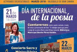 Valsequillo conmemora el Día Mundial de la Poesía con diversas actividades