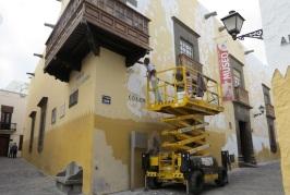 El Cabildo de Gran Canaria acomete la mejora de la fachada de la Casa de Colón
