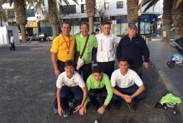 El Club Lomitos de Correa disputó en Lanzarote el Campeonato de Canarias de Petanca Juvenil y Femenino