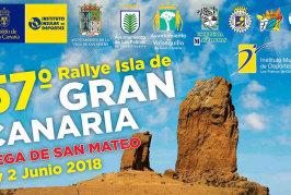 Carretera cortada debido al 57º Rallye Isla de Gran Canaria a su paso por Valsequillo