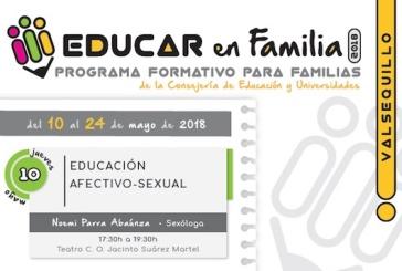 """Llega de nuevo a Valsequillo el programa """"Educar en Familia"""""""