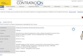 Valsequillo publica sus licitaciones a través de la Plataforma de Contratación del Estado