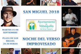La noche del verso improvisado de San Miguel, reúne a once verseadores en Valsequillo