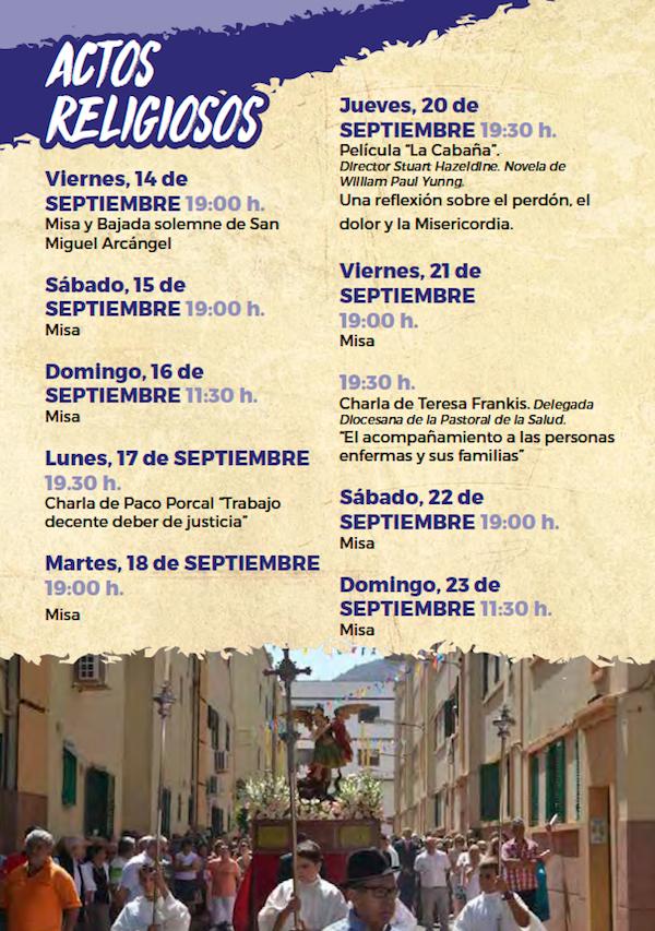 Programa Fiestas San Miguel 2018 10w