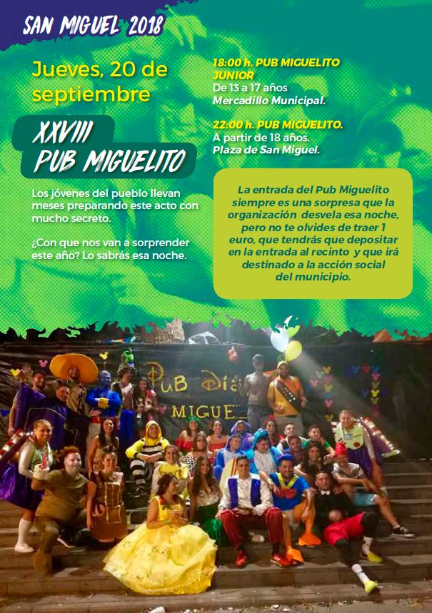 Programa Fiestas San Miguel 2018 16w