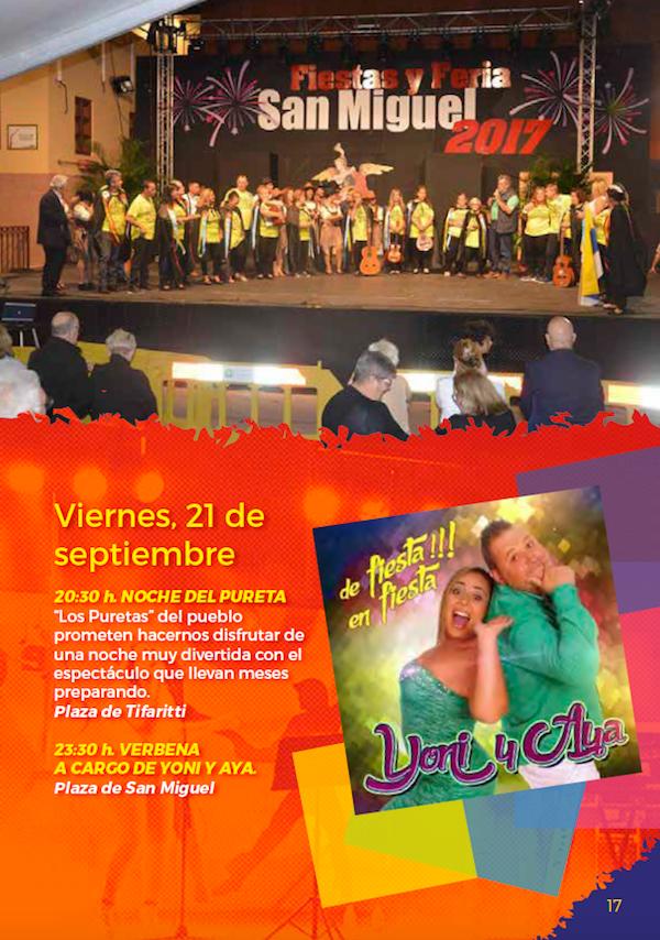Programa Fiestas San Miguel 2018 17w