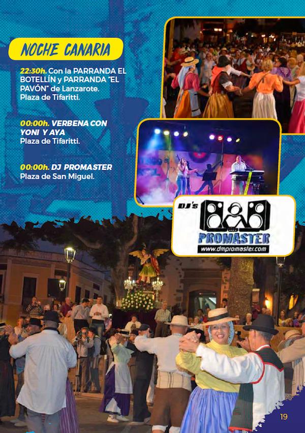 Programa Fiestas San Miguel 2018 19w