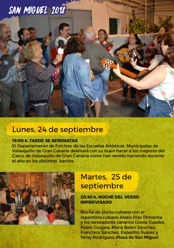 Programa Fiestas San Miguel 2018 22w