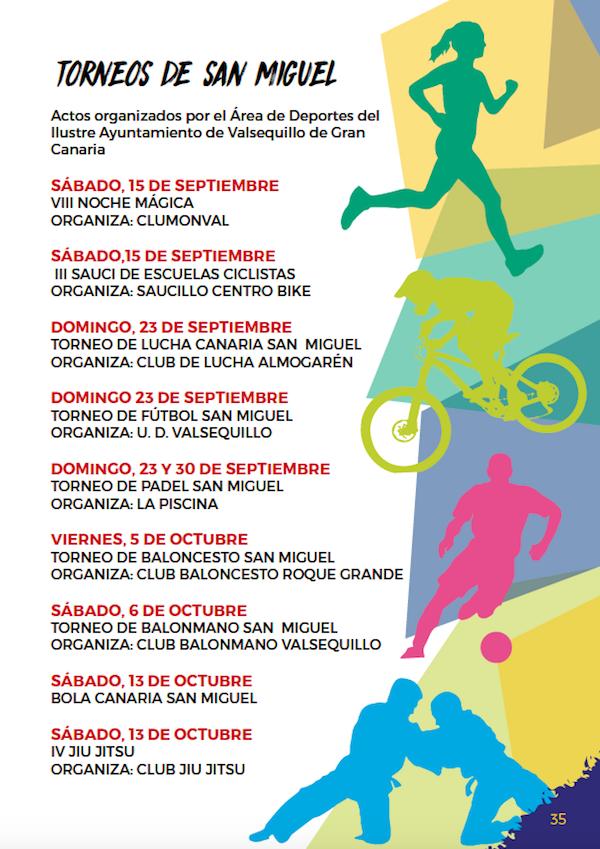 Programa Fiestas San Miguel 2018 35w