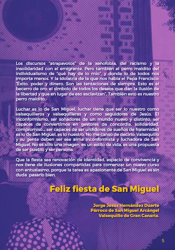 Programa Fiestas San Miguel 2018 5w