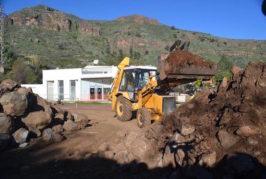 Comienza la obra de la Cancha Deportiva de Tenteniguada en Valsequillo