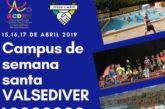 """Abiertas las inscripciones para el Campus de Semana Santa """"Valsediver 2019"""""""