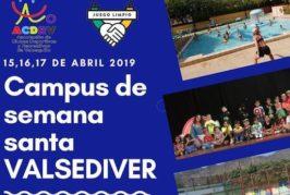 Abiertas las inscripciones para el Campus de Semana Santa «Valsediver 2019»