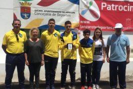 Alejandro Ramírez y Hugo Sanabria, subcampeones de Canarias de Petanca Juvenil