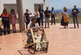 Suelta de mariposas monarca para cerrar los actos del Día de Canarias del CER de Telde y Valsequillo