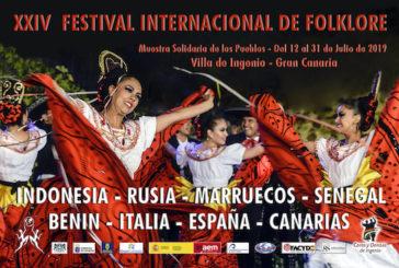 Grupos de Indonesia, Rusia, Marruecos, Senegal, Benín, Italia y España ofrecerán su música y su baile en el XXIV Festival Internacional de Folklore de Ingenio