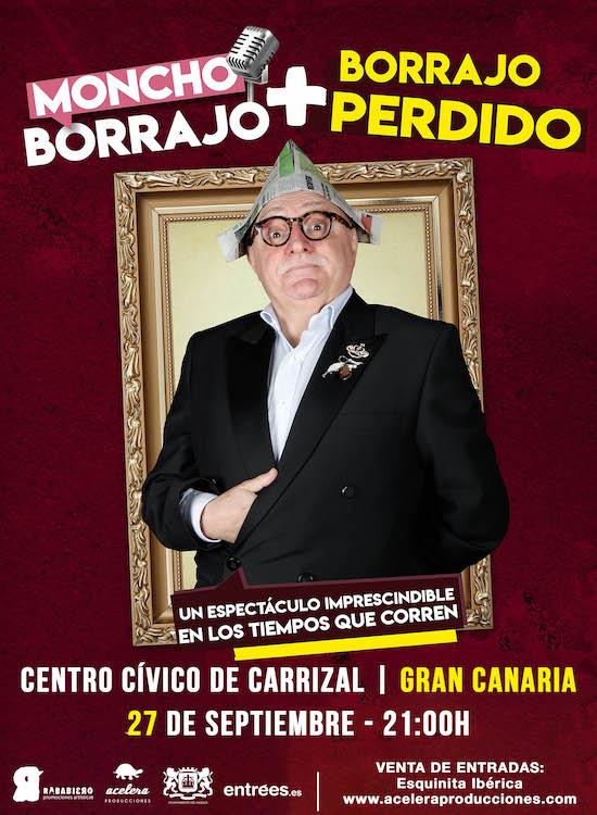 El humorista Moncho Borrajo presenta su último espectáculo 'Borrajo + Perdido' en Gran Canaria y Tenerife
