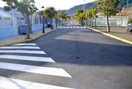 Valsequillo finaliza el reasfaltado en las calles de la zona escolar y deportiva del municipio
