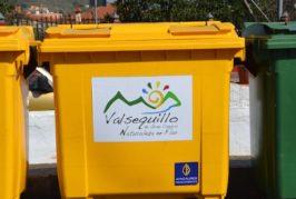 Valsequillo aumenta la recogida selectiva de residuos