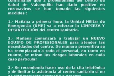 Comunicado del Ayuntamiento de Valsequillo de G.C. con respecto al Centro de Salud