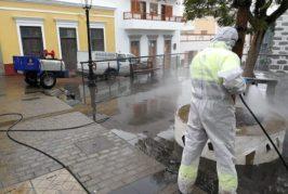 Valsequillo comienza la limpieza y desinfección de espacios públicos por el coronavirus