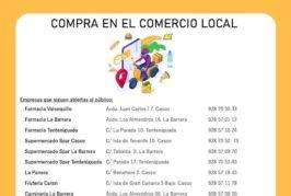 El Ayuntamiento de Valsequillo proporciona un listado de establecimientos abiertos durante el COVID-19