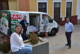 El jugador Pablo Rodríguez dona material sanitario al municipio de Valsequillo