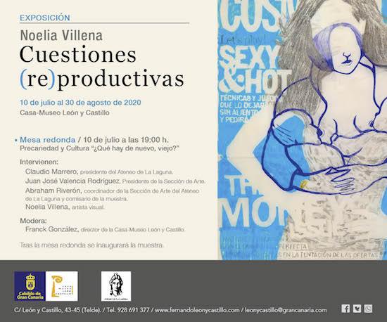 La artista Noelia Villena discute con su arte los nuevos modelos de igualdad en la Casa-Museo León y Castillo