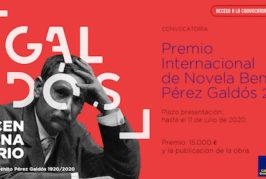 Concluye el plazo de presentación de obras del Premio Internacional de Novela Benito Pérez Galdós