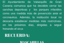 Comunicado Oficial del Ayuntamiento de Valsequillo estableciendo medidas más restrictivas contra Covid-19