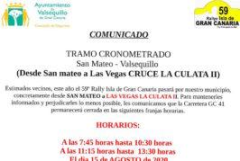 El 59º Rallye Isla de Gran Canaria pasa de nuevo por Valsequillo
