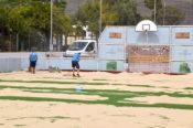 La cancha deportiva de Luis Verde cuenta con nuevo césped artificial