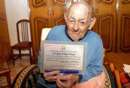 Valsequillo felicita a Juanito Ortega por sus 100 años